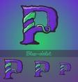 Halloween decorative alphabet - P letter vector image