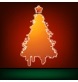 Christmas card template EPS 8 vector image vector image