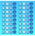 ice game icons buttons icons interface ui vector image