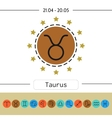 Taurus Set of simple zodiac icons for horoscopes vector image