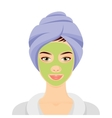 Woman in a Spa vector image