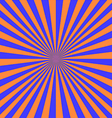 blue orange sunray vector image