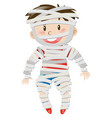 boy dressed in zombie costume for halloween vector image
