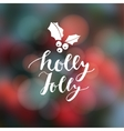 Christmas greeting card invitation Hand lettered vector image