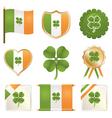 lucky four leaf clovers vector image