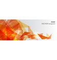 Orange geometric transparency vector image