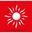 Sun on red background vector image