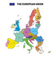 map of the european union vector image