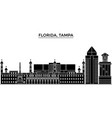 Usa florida tampa architecture city vector image