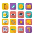 Flat icons for Web Design set 2 vector image vector image