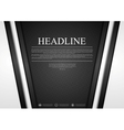 Black and white tech corporate background vector image vector image