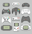 gamepad icon set vector image