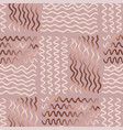 abstract gold wave pattern vector image