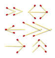 Arrows Symbols Made from Matches vector image
