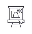 blackboardmathematics line icon sign vector image