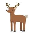 cartoon flat funny deer mascot vector image