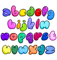 comic bubble lower case alphabet vector image
