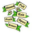 Door Signs gardens vector image