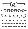 hand drawn set isolated on white background vector image