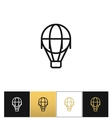 Hot air balloon line icon vector image