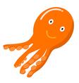 Orange Octopus cartoon vector image