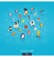 sport integrated 3d web icons digital network vector image