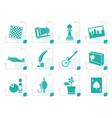 stylized hobby leisure and holiday icons vector image