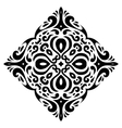 Tribal tatto square shape - vector image