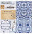 Design Elements - Vintage Postcard vector image vector image