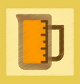 flat shading style icon measuring cup coffee vector image