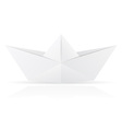 origami paper boat vector image vector image