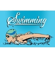 Summer kinds of sports Swimming vector image