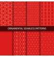Collection of luxury seamless ornamental patterns vector image