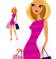 blond woman vector image