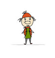 boy with backpack sketch for your design vector image