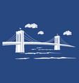 brooklyn blue vector image
