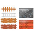 different designs of fences and walls vector image