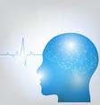 human head and brain vector image