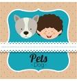 pet dog design vector image