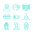 set of icons in trendy linear style vector image