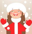 Winter happy girl vector image