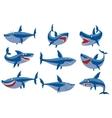 shark character set vector image