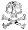 Concept of human skull vector image vector image