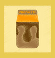 flat shading style icon chocolate package vector image
