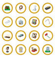 funeral and burial cartoon icon circle vector image