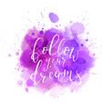 multicolored splash watercolor blot vector image vector image