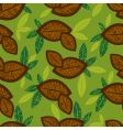 seamless floral pattern with coffee vector image vector image
