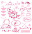 wed calligraphy 380 vector image