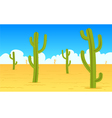 Desert Cartoon Landscape vector image
