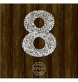 Number Eight vector image vector image